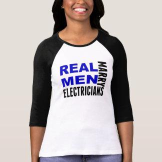 Real Men Marry Electricians Tshirt