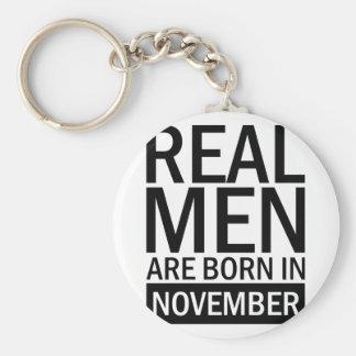 Real Men November Key Ring