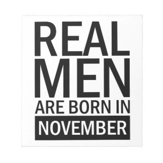Real Men November Notepad