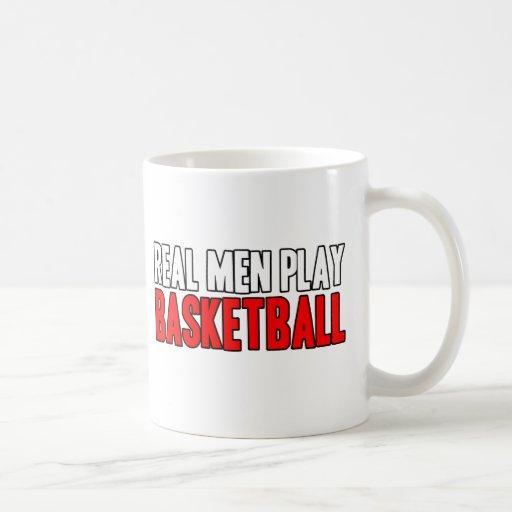 Real Men Play Basketball Coffee Mugs
