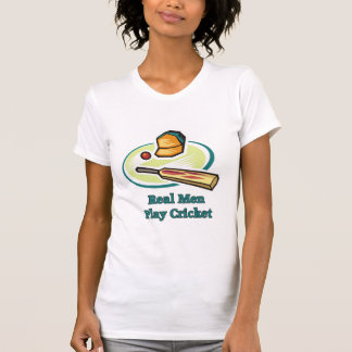 Real Men Play Cricket Women s Tees