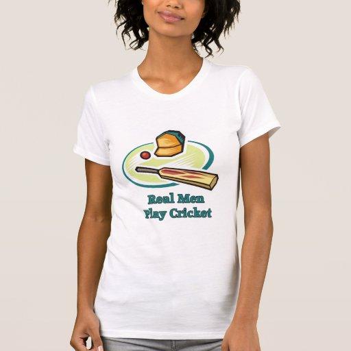 Real Men Play Cricket Women's Tees