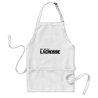 Real Men Play Lacrosse Standard Apron