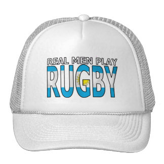 Real Men Play Rugby Argentina Hats