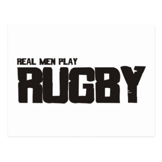 Real Men Play Rugby Post Card