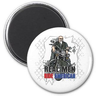 Real Men Ride American Magnet