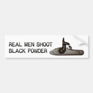 Real men shoot Black Powder, target shooting rifle Bumper Sticker