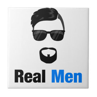 Real Men Small Square Tile