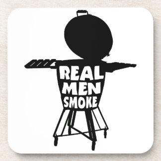 REAL MEN SMOKE COASTER