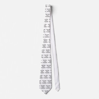 Real Men Teach Geography Tie