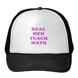 Real Men Teach Math Hats