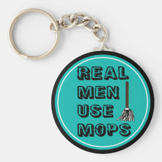 real men use mops key ring