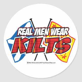 Real Men Wear Kilts 2 Classic Round Sticker