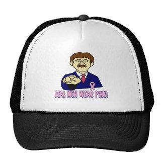 Real Men Wear Pink Breast Cancer Hat