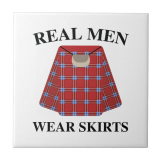 Real Men Wear Skirts Small Square Tile