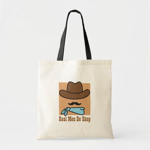 Real Men with Moustache Do Shop Tote Bag