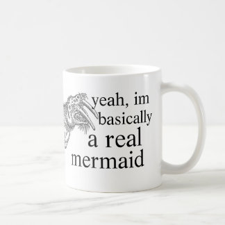 real mermaid coffee mug