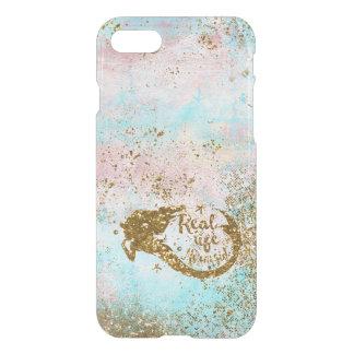 Real Mermaid Life- Glitter Gold Mermaid iPhone 7 Case