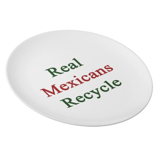 Real Mexicans Recycle Plate