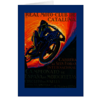 Real Moto Club Vintage PosterEurope Card