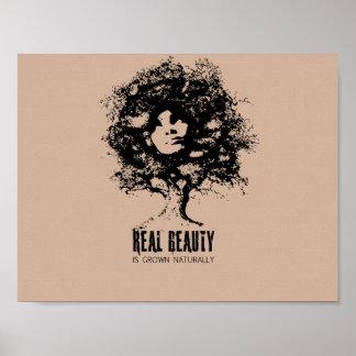 Real Natural Beauty Poster