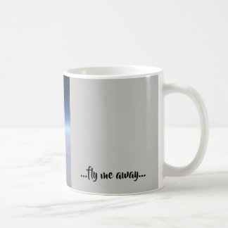 Real photo of plane wing - fly me away! coffee mug