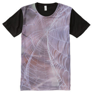 Real Photo Spider Web printed on T-shirt