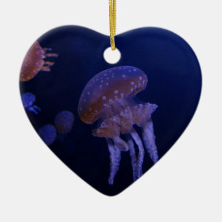 Real photo taken of jelly fish ceramic heart decoration