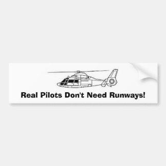 Real Pilots Don't Need Runways! Car Bumper Sticker