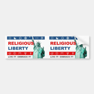Real Religious Liberty Bumper Sticker