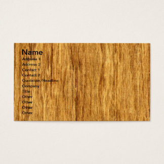 Real Scanned San Domingo Rosewood Veneer Woodgrain Business Card