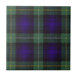 Real Scottish tartan - Campbell of Argyll Small Square Tile
