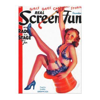Real Screen Fun Magazine Cover 3 Canvas Prints