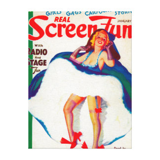 Real Screen Fun Magazine Cover Stretched Canvas Prints