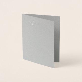 Real Silver Foil Grey Wedding Menu Card