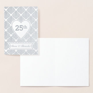 Real Silver Great Gatsby Art Deco 25th Anniversary Foil Card