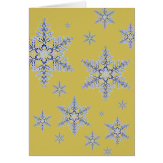 Real Snowflake on Gold Card