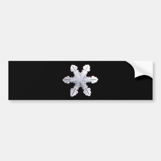Real Snowflake Picture Bumper Sticker