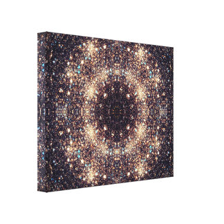 Real Stars Mandala Canvas Print