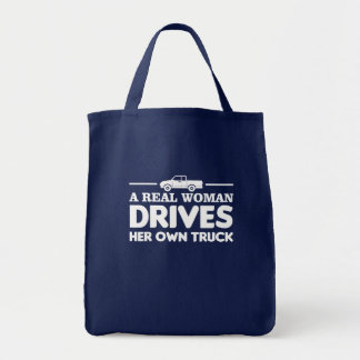 Real Woman Drives Her Own Trucker Women Tote Bag