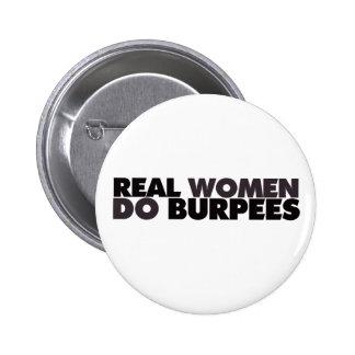Real Women Do Burpees 6 Cm Round Badge
