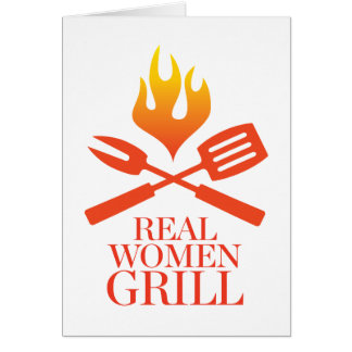 Real Women Grill Card