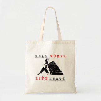 Real Women Lift Heavy Budget Tote Bag