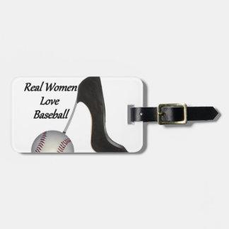 Real Women Love Baseball Luggage Tag
