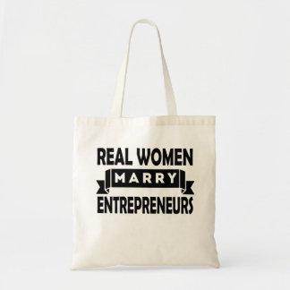 Real Women Marry Entrepreneurs Budget Tote Bag