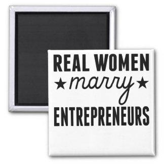 Real Women Marry Entrepreneurs Square Magnet