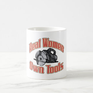 Real women own tools basic white mug