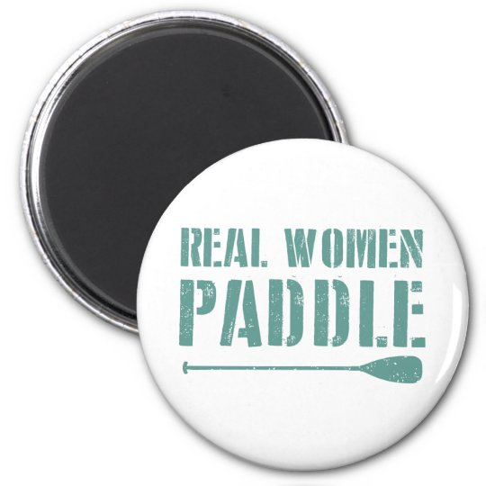 Real Women Paddle 6 Cm Round Magnet
