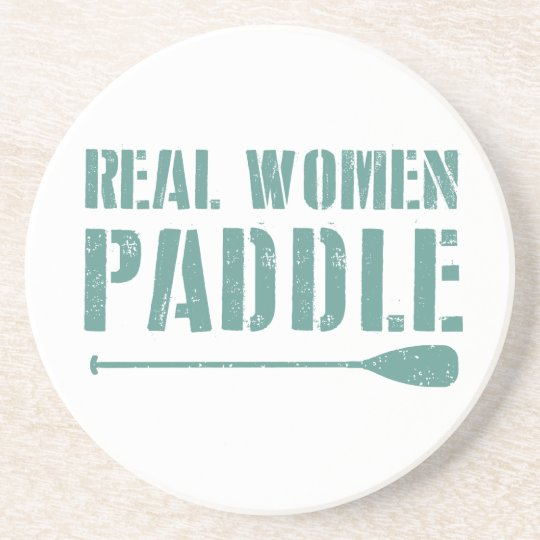 Real Women Paddle Beverage Coaster