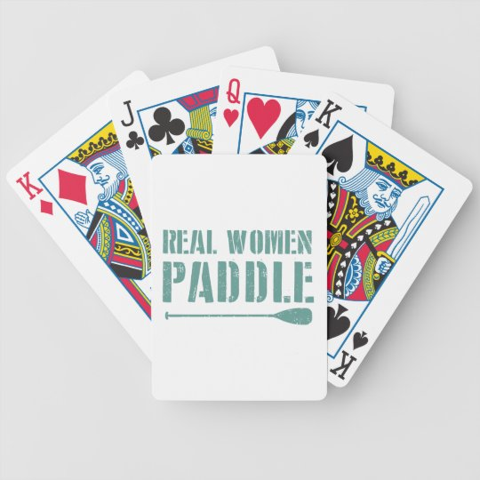 Real Women Paddle Bicycle Playing Cards